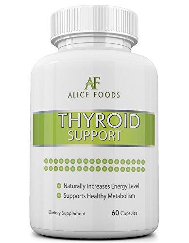 """Alicia alimentos tiroides apoyo suplemento con yodo + """"Trastornos de la tiroides"""" Guía - ingredientes naturales de primera calidad - mejora los niveles de energía y metabolismo - paquete de 60 cápsulas - perfecto para hombres y mujeres"""