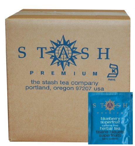 Stash Tea arándano superfruta té de hierbas, 100 cuenta caja de sobres de té en hoja