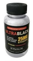 ULTRA BLACK EFEDRA SUPLEMENTO PARA QUEMAR LA GRASA 25 MG 100 CAPS