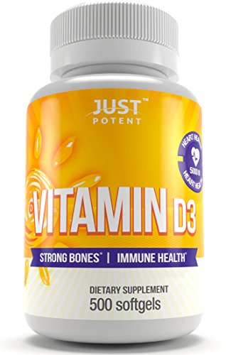 Suplemento de vitamina D3 por Sólo Potente 500 Cápsulas