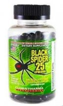 BLACK SPIDER 25 MG EPHEDRA 100 CAPSULAS