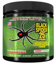 BLACK SPIDER 25 MG EFEDRA 210 GRAMOS