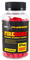 FIREBURN EPHEDRA 27MG 100 CAPSULAS