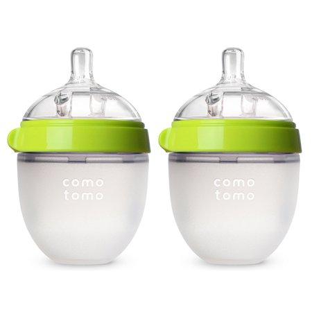 Comotomo Biberón - 5 oz verde paquete de 2