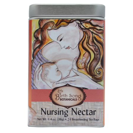 Nursing Nectar Organic Herbal Breastfeeding Tea Tin 24 ct. by Birth Song Botanicals