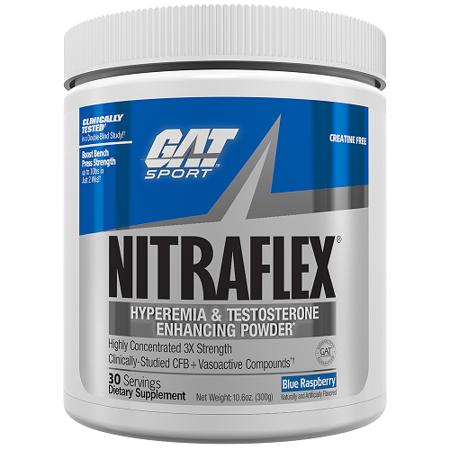 GAT Sport Nitraflex Test Booster Blue Raspberry 30 Servings