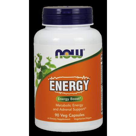 NOW Energy Boost cápsulas vegetarianas 90 Ct