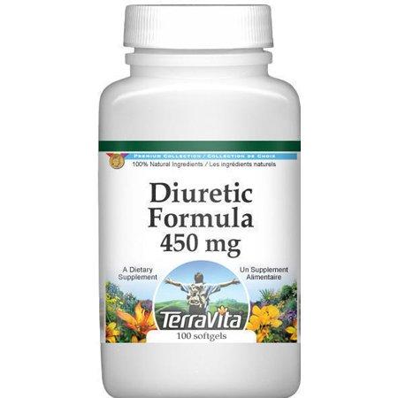 Diurético Formula - Java té y cola de caballo - 450 mg (100 cápsulas ZIN- 514003) - 2-Pack