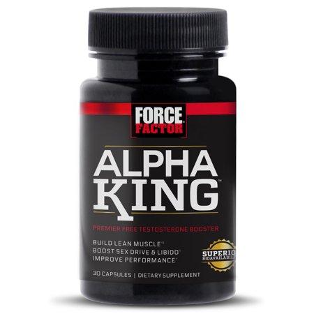Force Factor Alfa Rey testosterona libre Booster Con Alphafen Cápsulas 30 Ct