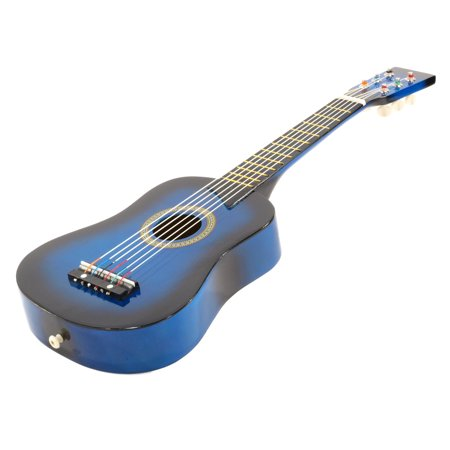 """25"""" Children's Kids Toy Acoustic Guitar Blue with Bag and Accessories"""