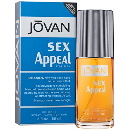 6 Pack - Sex Appeal por Jovan Colonia Spray para hombres 3 oz