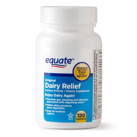 Equate Caplets Relief Dairy original 120 Ct