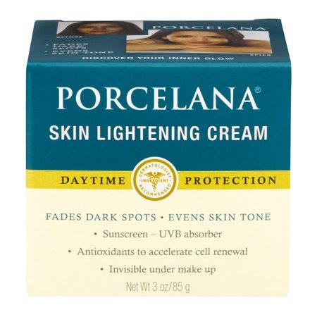 Porcelana Skin Lightening Crema de día y manchas oscuras de fundido de tratamiento 3 oz