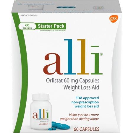 Alli dieta orlistat 60 mg pastillas para perder peso Starter Pack 60 Ct