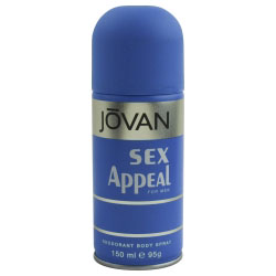 JOVAN SEX APPEAL por Jovan - desodorante corporal SPRAY 5 OZ - MEN