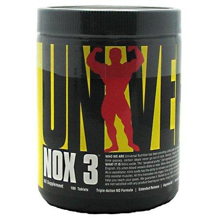 Universal Nutrition NOX 3 Nitric Oxide Booster 180 Ct