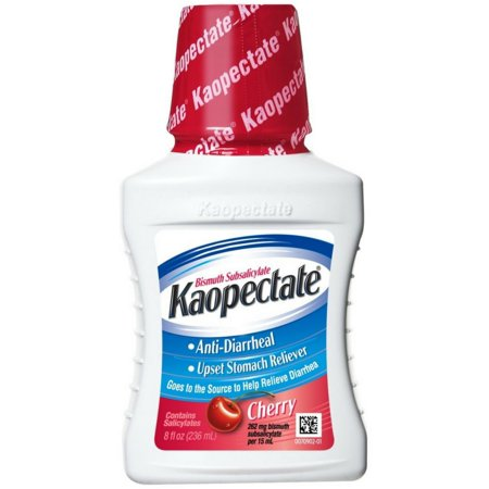 Kaopectate antidiarreicos Reliever malestar estomacal Cherry 8 oz (Pack de 3)