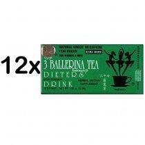 3 BALLERINA DIET TEA 12 CAJAS X 18 BOLSAS