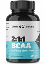 CRAZY MUSCLE BCAA 120 TABLETAS