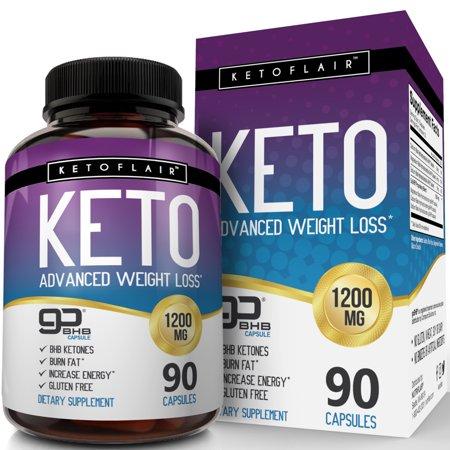 NutriFlair Keto Píldoras de la dieta 1200 mg 90 cápsulas