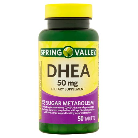 Spring Valley DHEA Tablets 50 mg 50 Caps