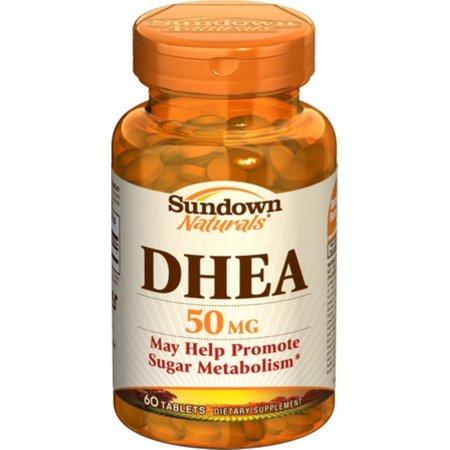 Sundown Naturals DHEA 50 mg comprimidos 60 comprimidos (Pack de 3)