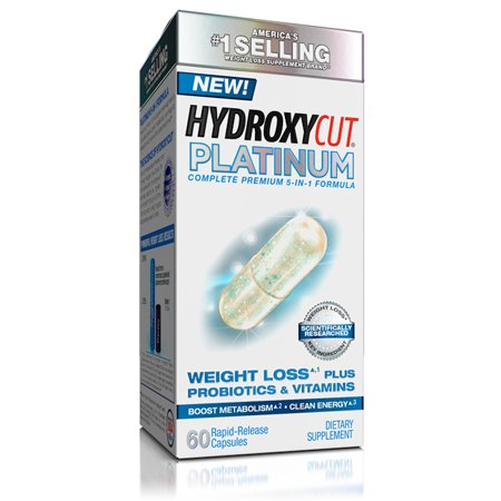Hydroxycut Platinum Metabolismo Booster con probióticos y vitaminas pérdida de peso píldoras cápsulas 60 Ct
