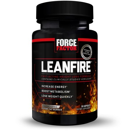 Force Factor LeanFire Thermogenic Fat Burner for Weight Loss with Garcinia Cambogia Green Coffee Bean Green Tea Extract L